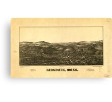 Panoramic Maps Hinsdale Mass Canvas Print