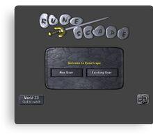 Runescape log in screen Canvas Print