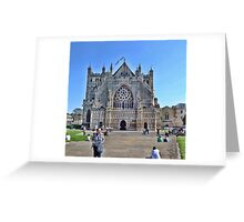 Exeter Cathedral Devon. UK Greeting Card