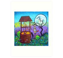 Moonlight Wish Art Print