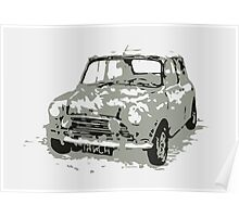 Classic Mini Car Poster