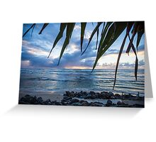 A Peaceful Morning at Lennox Head. Greeting Card