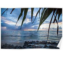 A Peaceful Morning at Lennox Head. Poster