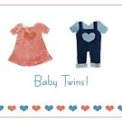 Baby twins, one of each! card by Gillian Cross