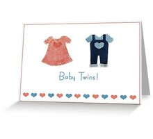 Baby twins, one of each! card Greeting Card