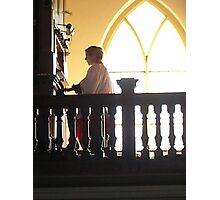 choral evensong with female organist Photographic Print