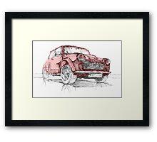 Classic Mini Cooper Car Framed Print