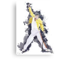 Freddie Mercury Splash Watercolor Canvas Print