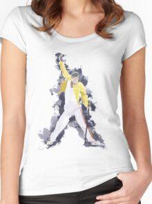 Freddie Mercury Splash Watercolor Women's Fitted Scoop T-Shirt