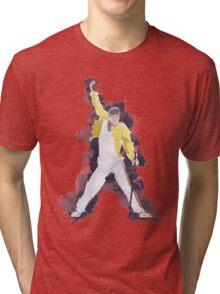 Freddie Mercury Splash Watercolor Tri-blend T-Shirt