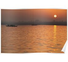 Sunrise on the Ganges Poster
