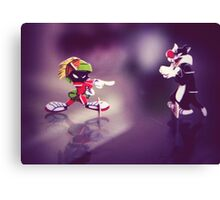 Marvin the Martian and Silvester Canvas Print