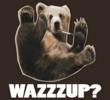 WAZZZUP? funny smoking bear by limitlezz