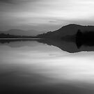 Loch Achilty - The Retreating Light by Kevin Skinner