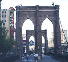 Replica Brooklyn Bridge, New York New York Hotel, Las Vegas, Nevada  by lenspiro