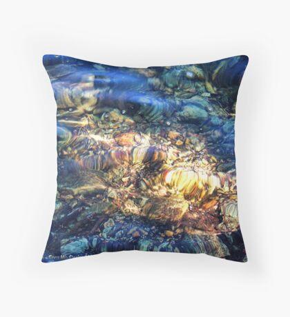 Penetrating the Depths (Hall Lake) Throw Pillow
