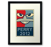 Perry the Platypus for President 2012 Framed Print