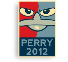 Perry the Platypus for President 2012 Canvas Print