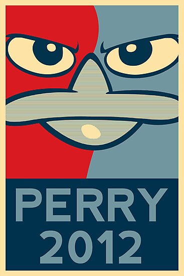 Perry the Platypus for President 2012 by Ken Starzer