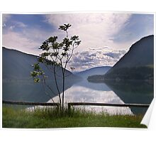 Evening at Lower Arrow Lake Poster