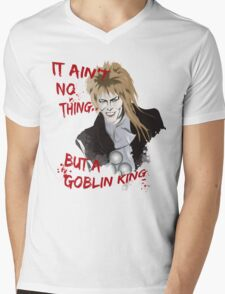 Goblin King Mens V-Neck T-Shirt