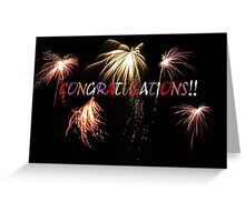 Congratulations greeting card. Greeting Card