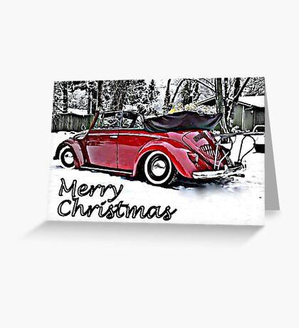 Santa got a new ride Greeting Card
