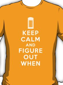 Keep Calm and Figure Out When T-Shirt