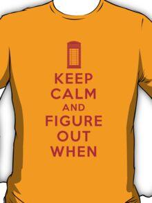 Keep Calm and Figure Out When (light t-shirt) T-Shirt