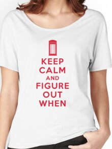 Keep Calm and Figure Out When (light t-shirt) Women's Relaxed Fit T-Shirt