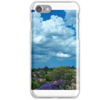 Rooftops below the clouds iPhone Case/Skin