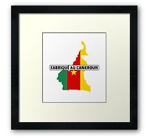 made in cameroon Framed Print