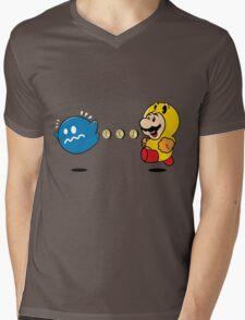 Power Pellet Power Up Mens V-Neck T-Shirt