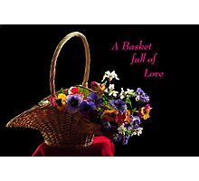 A BASKET FULL OF LOVE~ Photographic Print