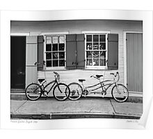 French Quarter bicycle Shop Poster