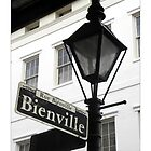 Bienville Lamp Post / French Quarter by Sandra Russell