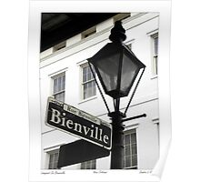 Bienville Lamp Post / French Quarter Poster