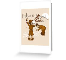 Worst detective EVER! Greeting Card