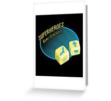Superheroes name-generator Greeting Card