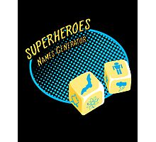 Superheroes name-generator Photographic Print