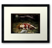 Sleeping Red-Goldie Bear Framed Print