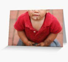 A Little Boy Greeting Card