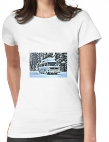 Snow toppped Womens Fitted T-Shirt