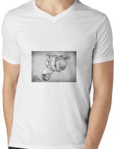 Lambretta 150ld Pencil Sketch Mens V-Neck T-Shirt