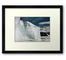Tabular Icebergs and Fast Ice Framed Print