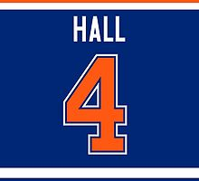 Edmonton Oilers Taylor Hall Jersey Back Phone Case by Russ Jericho