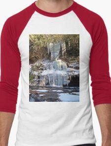 Frozen Cascade  Men's Baseball ¾ T-Shirt