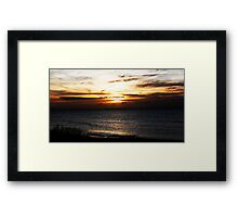 Bognor Sunset Framed Print