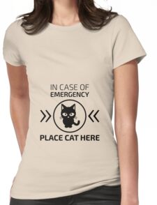 Emergency cat Womens Fitted T-Shirt