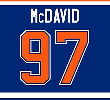Edmonton Oilers Connor McDavid Jersey Back Phone Case by Russ Jericho